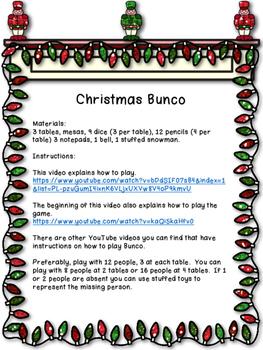 Christmas Bunco