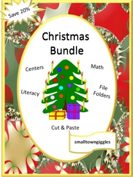 Christmas Bundle Literacy Math Math Center Fine Motor Special Ed P-K,K