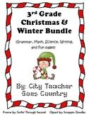 Christmas Bundle - 14 Printables & 2 Centers (Science, Math, Grammar & Writing)