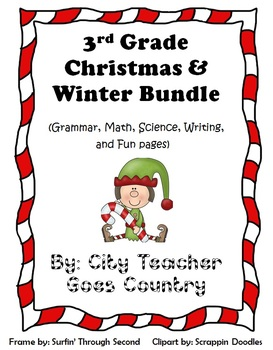 Christmas Bundle - 14 Printables & 2 Centers (Science, Math, Grammar & Writing)