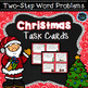 First Grade Literacy and Math Bundle - Christmas Winter Theme