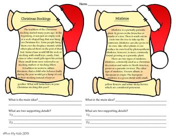 Christmas Bundle -  3rd, 4th, 5th - Language Arts and Math Activities