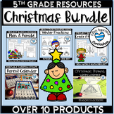 Christmas Bundle 5th Grade Math and Writing Activities