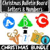 Christmas Bundle Bulletin Board Letters/Numbers Holiday Theme Clip Art