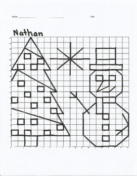 Christmas Bundle Coordinate Plane 5 Graphing Mystery Pictures