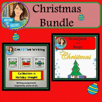 Christmas Bundle: Creative Writing, WebQuest, Bingo