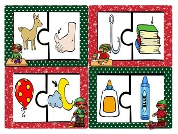 Christmas Bundle: Differentiated Literacy and Math Centers
