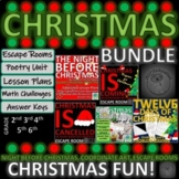 Christmas Bundle:Escape Rooms, Math Activities, Guided Reading Plans, Traditions