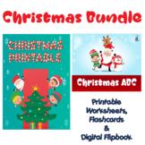 Christmas Bundle Flipbook, Flashcards, Worksheets