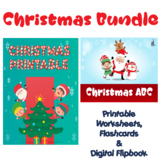 Christmas Bundle Flipbook, Flashcards, Worksheets