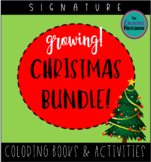 Christmas Bundle! GROWING!   Christmas Coloring Pages and