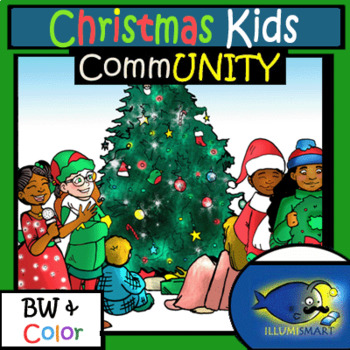 Christmas Bundle! Objects, Kids, Cookies, and Religious Clip-Art! 107 Pieces!