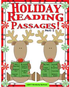 Christmas Bundle!  Reading Comprehension Passages and Questions  K - 1