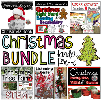 Christmas Bundle:  Reading, Math, Grammar, Centers, Projects, STEM