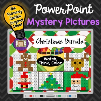 Christmas Bundle Watch, Think, Color Games - EXPANDING BUNDLE Mystery Pictures