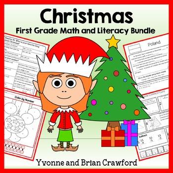 Christmas Bundle for First Grade Endless