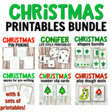 Christmas Bundle for Hands-on Learning Activities with 7 a