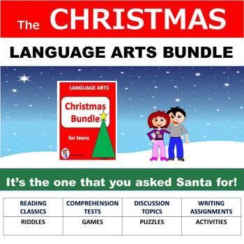 Language Arts Christmas Activities, No Prep, Bundle for Teens