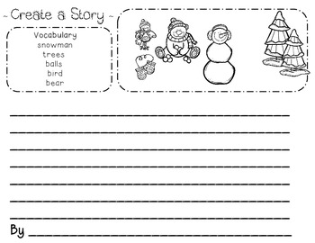 Christmas Bundle for Kindergarten and First Grade