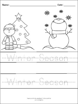 Christmas Bundle for Pre-K and First Graders: Winter Fun