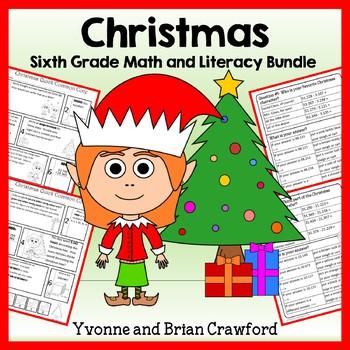 Christmas Bundle for Sixth Grade Endless