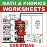Christmas worksheets kindergarten math ela
