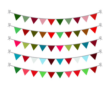 Christmas Bunting Clipart, Christmas Clipart, Holiday Bunting, Holiday Clipart