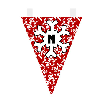 Red and Aqua Christmas Bunting FREEBIE
