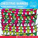 Christmas Banner Clipart {Bunting / Garland / Pennants)