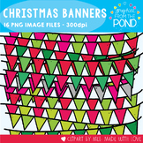 Christmas Banner Clipart {Bunting / Garland / Pennants)