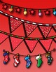 Christmas Buntings, Stockings & String Lights clip art set