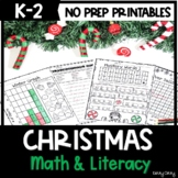 Christmas Math and Literacy Activities