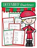December Packet No Prep {Growing Packet} Kinder and 1st Grade