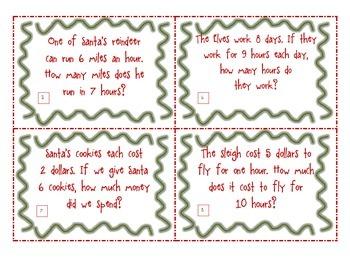 Christmas CGI Task Problems Basic Facts Multiplication