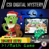 Christmas Math Game - CSI Digital Mystery Math Game - Differentiated Levels