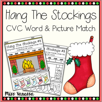 Christmas CVC Literacy Center Activity, Matching CVC Words And Pictures!