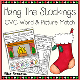 Christmas CVC Words Activity, Hang The Stockings