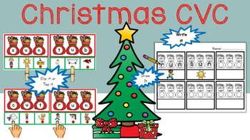 Christmas CVC Center Activity: Short Vowel Sounds