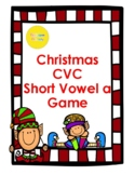 Christmas CVC Short a Word Family Game