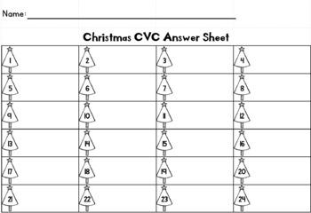 Christmas CVC Task Cards