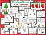 Christmas: CVC Word Activities - Kindergarten; First; Special Education; Autism