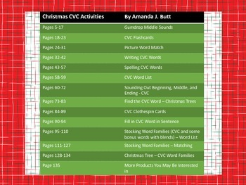 Christmas: CVC Word Activities - Kindergarten; First; Special Education; Autism