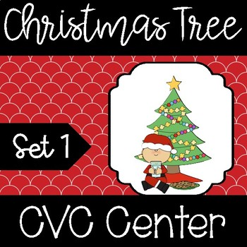 Christmas CVC Word Builder Center (Set 1)