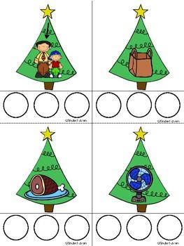 Christmas CVC Word Builder Center (Set 1)