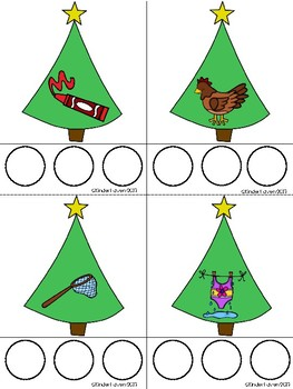 Christmas CVC Word Builder Center (Set 2)