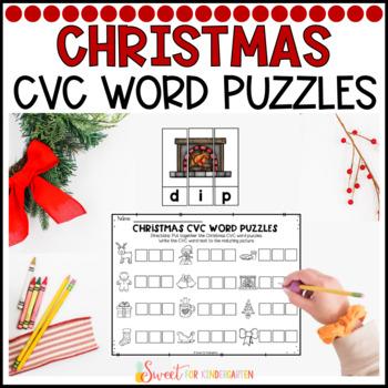 Christmas CVC Word Puzzles