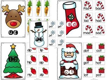 Christmas CVC Words!