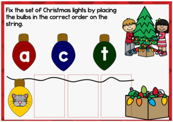 Christmas CVC Words Differentiated Boom Cards (Digital Task Cards)