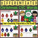 Christmas CVC Words Differentiated Boom Cards (Digital Tas