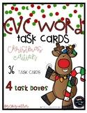 Christmas CVC Words [Task Cards]